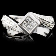 18K White Gold 0.62ctw Diamond Ring