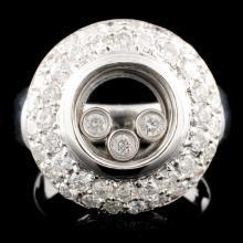 18K Gold 1.60ctw Chopard Style Diamond Ring