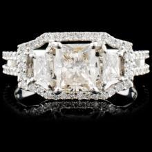 18K Gold 1.89ctw Diamond Ring