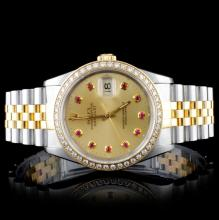 Rolex TT DateJust Diamond Men's Watch
