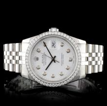 Rolex SS DateJust 1.00ct Diamond Men's Watch