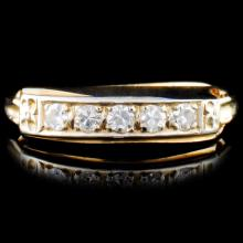 14K Gold 0.23ctw Diamond Ring