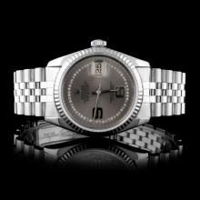 Rolex SS DateJust Diamond Men's Watch