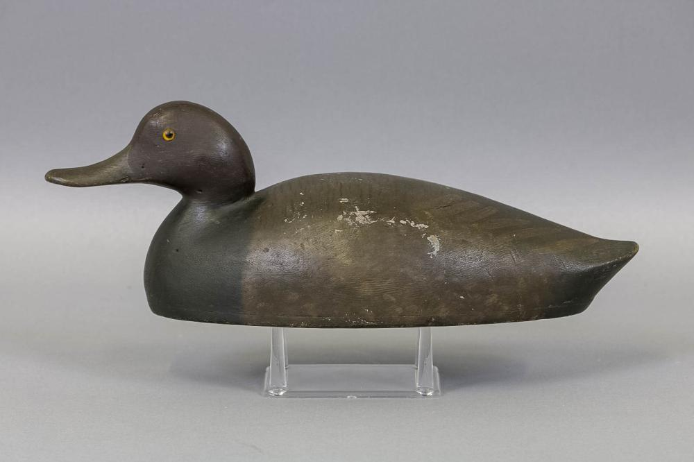 George warin red head drake duck decoy ontario canada holl for Drake homes inc