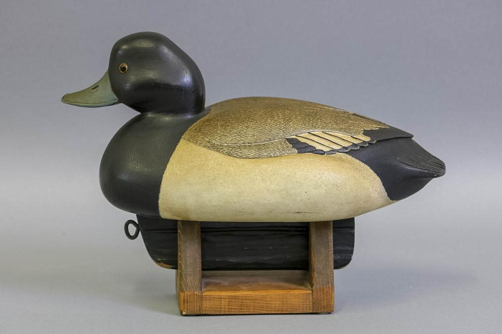 Bluebill drake duck decoy by unknown carver hollow body gl for Drake homes inc