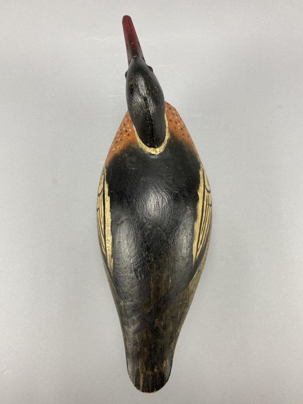 Rare A. Elmer Crowell Merganser Drake Duck Decoy