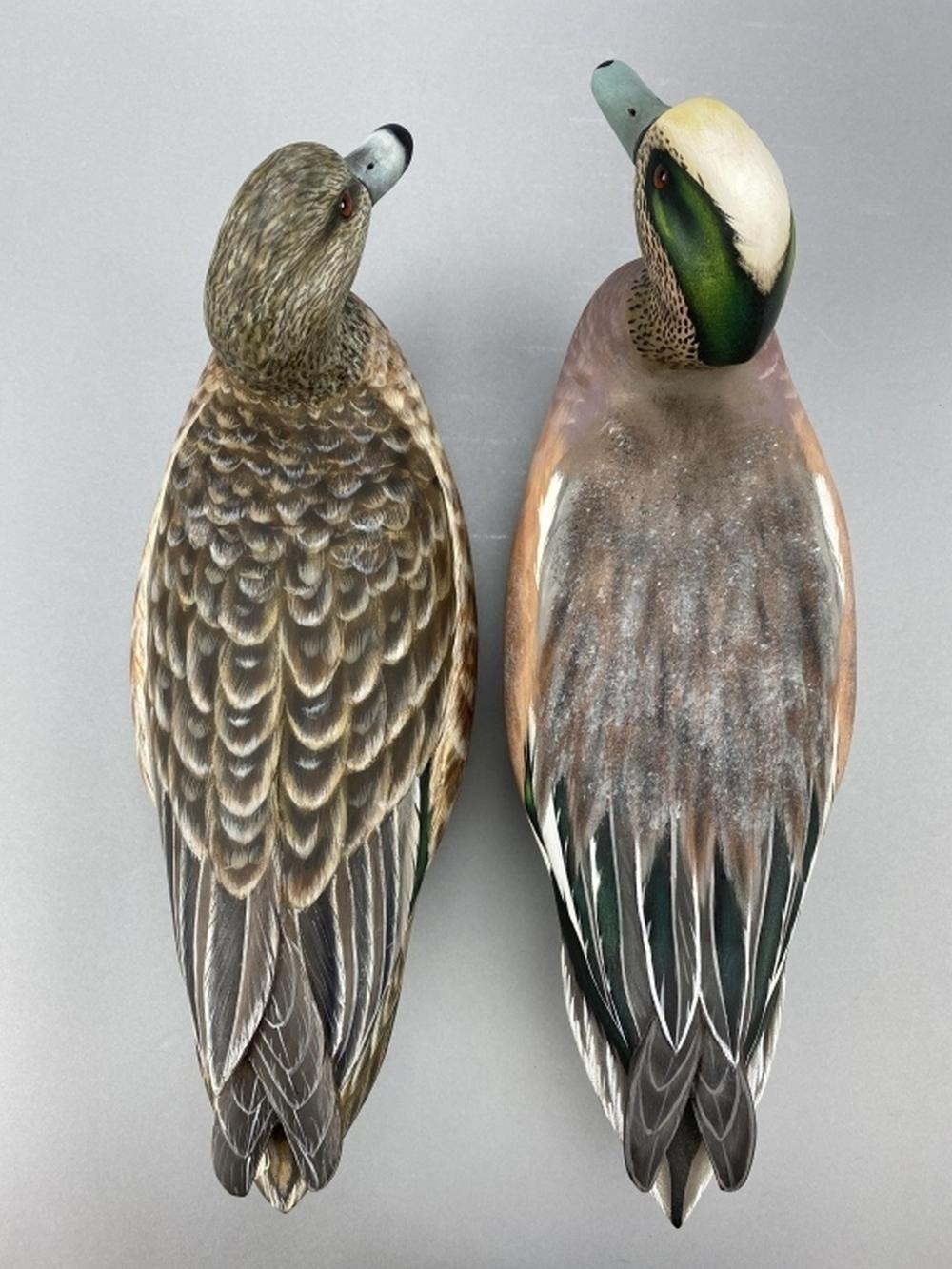 Roy Le Gaux, Sr. Pair Of Widgeon Duck Decoys