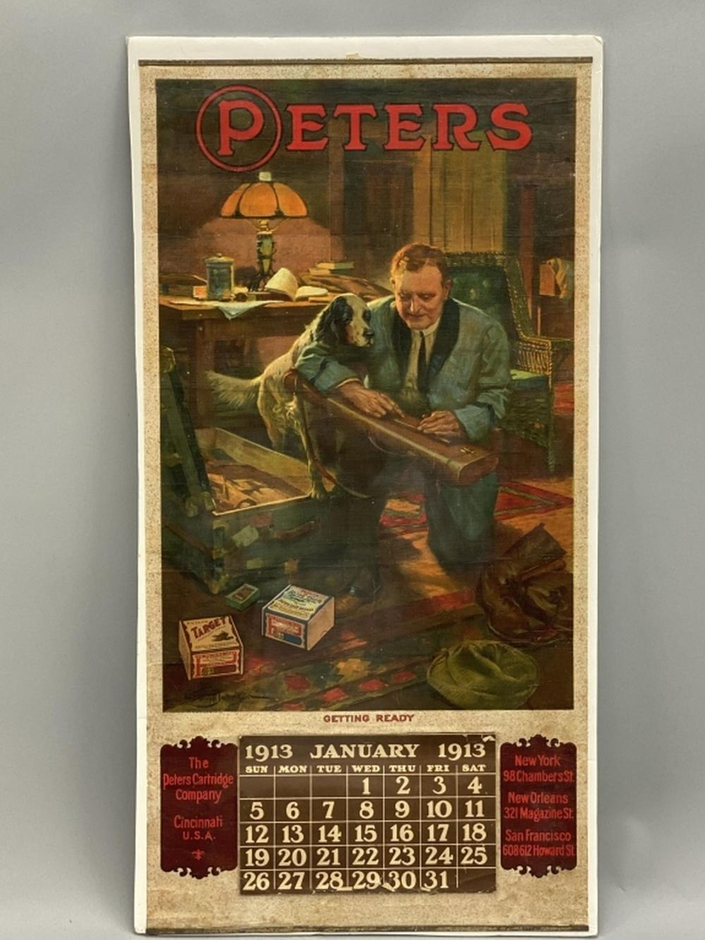 Peters Advertising Poster with Calendar