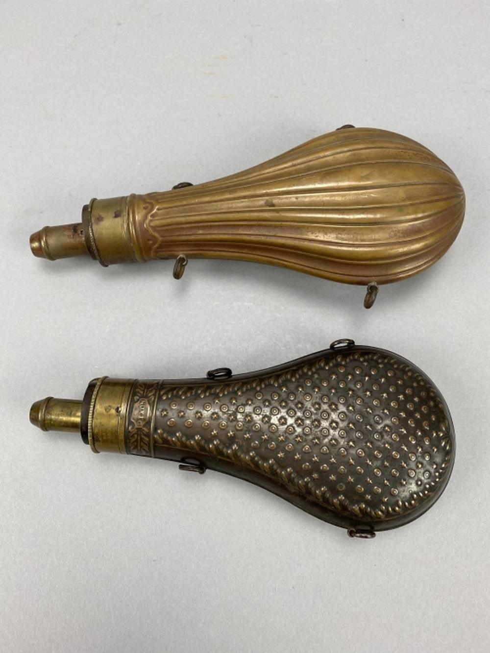 2 Antique Powder Flasks