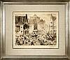 DE BRUYCKER, Jules – Jour de marché à Gand - 1906, Jules