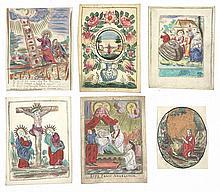 [DEVOTIEPRENTEN] – Verzameling van 10 Vlaamse devotieprenten uit 18de eeuw