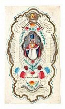 [DEVOTIEPRENTJES ea] – Verzameling met één canivet prentje (12 x 7 cm) met handgeschilderde Severinus; twee prentjes met handjes, handgeschilderd, één dubbel; 6 ex-librissen uit 17de tot vroeg 19de eeuw.