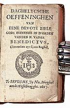 [BRUGSE DRUK] – Daghelycsche oeffeningen van eene devote ziele Gode dienende in d'orden vanden H. Vader Benedictus, ghetrocken uyt sijnen reghel
