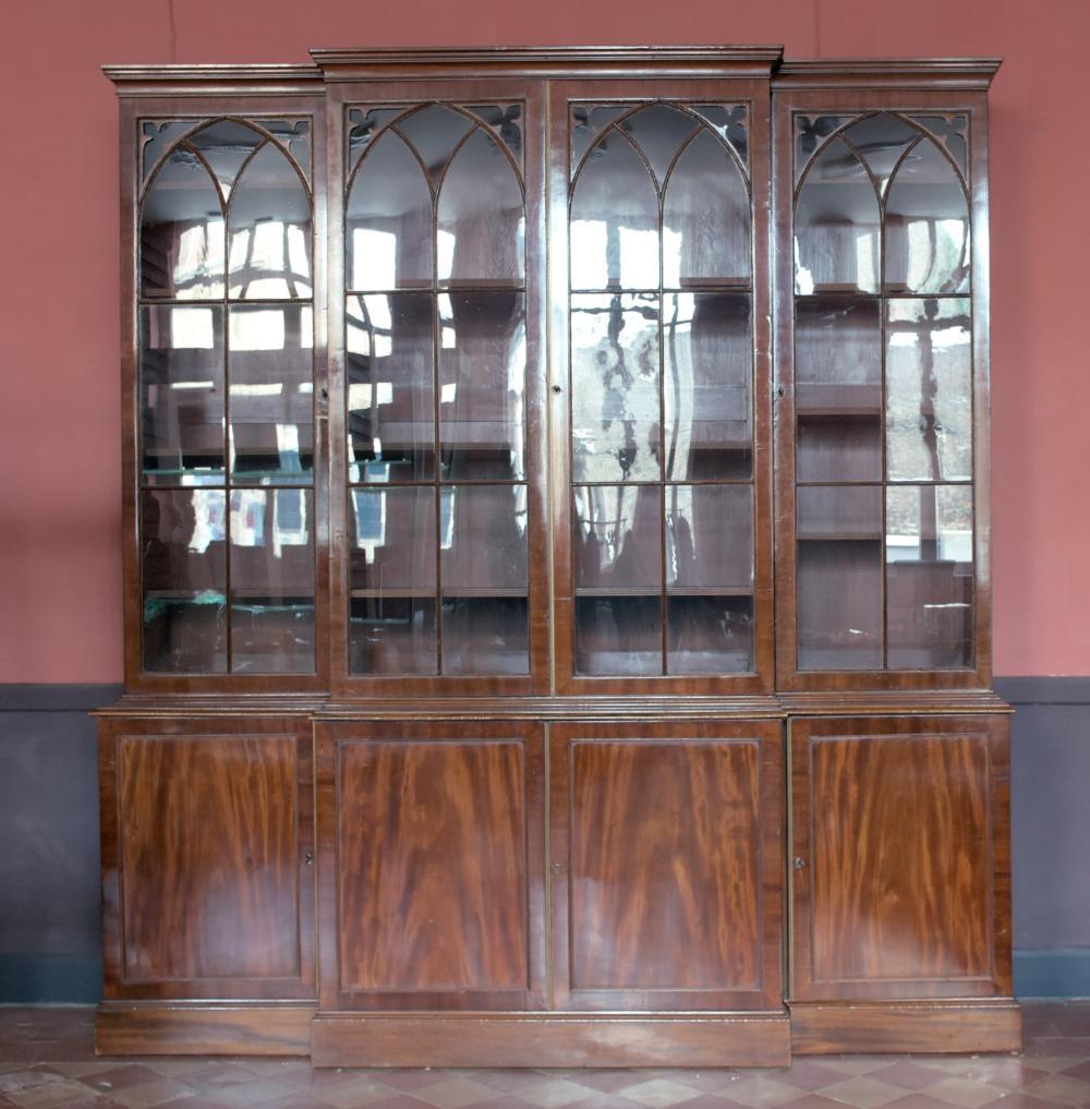 Engelse Boekenkast Glas.Boekenkast Engelse Boekenkast Uit 19de Eeuw
