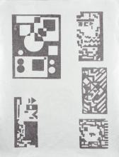 MAES, Karel (1900-1974) – 5 linogravures sur une feuille argentée