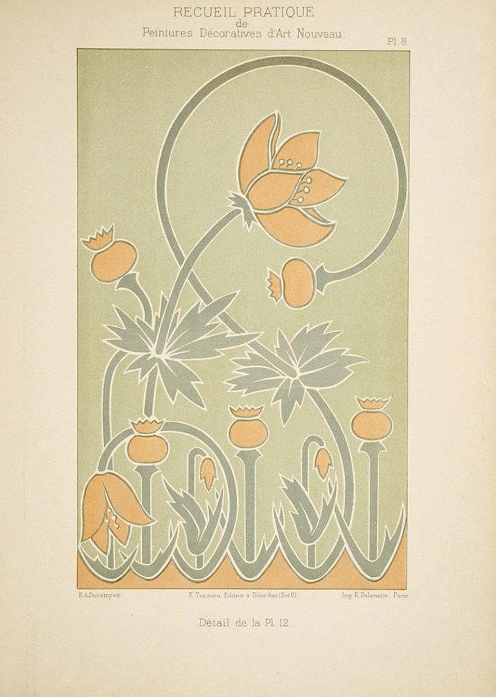 Ducompex e recueil pratique de peintures d coratives d 39 a for Peintures decoratives