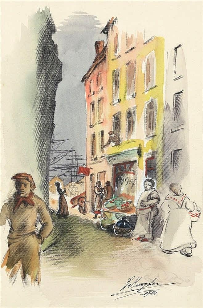 DE JAEGHER, Lucien – Illustraties voor 'Epaves, roman d'aventures maritimes' van Marcel Schiltz