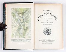 VIOLLET-LE-DUC, Eugène – Histoire d'une forteresse. Texte et dessins par Viollet-le-Duc avec 8 gravures en couleurs.