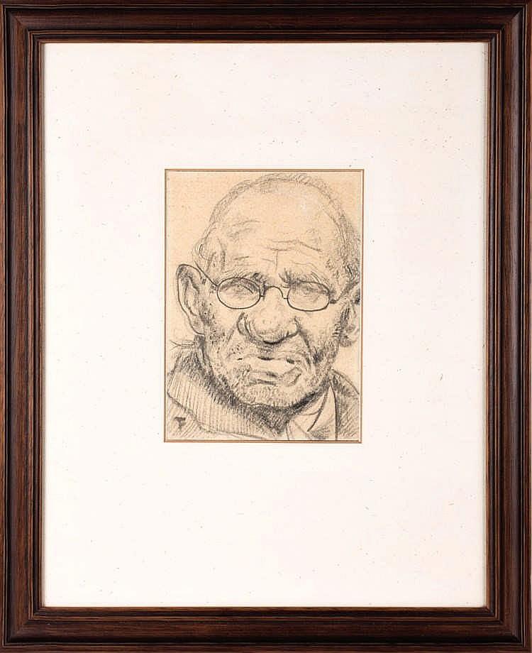 TIMMERMANS, Felix – Portret van een man met een bril