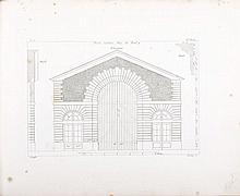 KRAFFT, J. Ch. – Portes cochères et portes d'entrées des maisons et édifices publics de Paris levées, mesurées et dessinées par J. Ch. Krafft