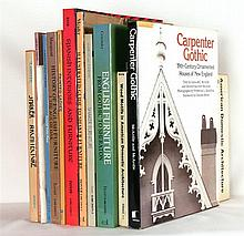 [DOMESTIC ARCHITECTURE] – Lot of 12 books about furniture, Gothic Revival, Shaker furniture