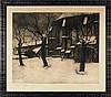 CLESSE, Louis – Eglise sous la neige Abbaye de la Cambre, Louis Clesse, €70