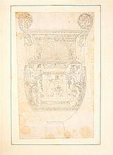 [ORNEMENTEN] – Dessins d'ornements antiques, de figures mythologues etc.