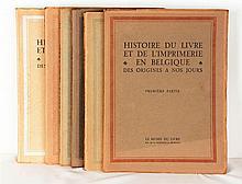 LIEBRECHT, SABBE, DELEN etc – Histoire du livre et de l'imprimerie en Belgique