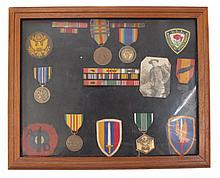 A COLLECTION OF AMERICAN MEDALS AND PATCHES