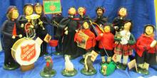 Byer's Choice ~ The Salvation Army ~ 9 Carolers + Extra Scottish Caroler + 4 Extra Animals & All Accessories