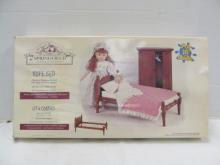 (67) Springfield Collection Doll Rope Bed ~ Cherry Stained Wood w/Rope Mattress Support ~ 20