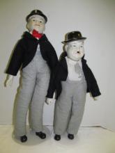 (161) Laurel & Hardy Bisque Dolls 18