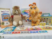 (518) Teddy Ruxpin & Rubby w/Loads of Tapes & Accessories