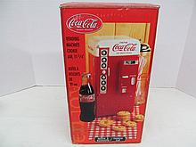 (17) Coca-Cola Vending Machine Porcelain Cookie Jar
