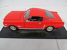 (21) Die Case Red 1965 Mustang Fast Back