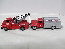 (33) Die Cast Red 24 HR Towing Mobilgas Tow Truck Towing Mobil Gas Truck