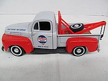 (37) Die Cast 1949 Chevron Dealer Ford F1 Pickup / Tow Truck