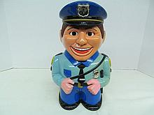 (40) Policeman Talking Cookie Jar ~ Says: