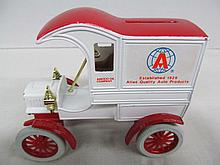 (41) Die Cast Coin Bank 1904 Replica of Ford's First Delivery Car ~ Advertising Amoco Oil Company