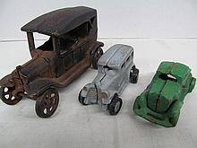 (47) Lot of 3 Old Cast Iron Toy Vehicles