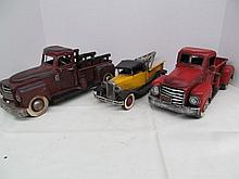 (49) Lot of 3 Simulated Old Farm Trucks & Tow Truck