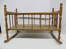 (528) Wooden Doll Cradle