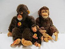 3 Piece Steiff Lot ~ Steiff Jocko Chimpanzee (Schimpanse) EAN 0020/35 ~ 13