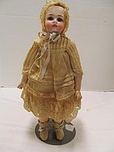 (85) Antique Porcelain Doll w/Jointed Composite Body ~ 12