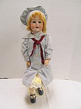(76) Antique Armand Marseille Porcelain Doll ~ Jointed Composite Body ~ Marked 590 A7M Germany ~ DRGM