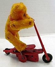 Rare Steiff Jointed Bear on Red Scooter ~ Missing Tag & Ear Button