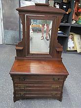 (615) Antique Eastlake Doll / Child / Salesman Sample? Dresser w/Tilt Swivel Mirror ~ Awesome
