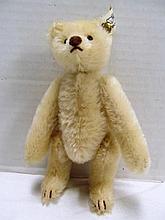 Steiff Snap Apart Bear (Push ButtonBear) 1908 Replica EAN 0158/17 ~ 1989 ~ White Mohair