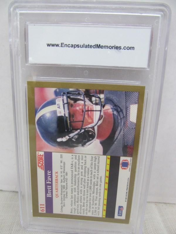 Lot 127 1991 SCORE BRETT FAVRE ROOKIE GRADED FOOTBALL CARD