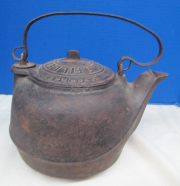 G. F. FILLY CAST IRON TEA KETTLE Pat. 1863